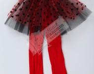 Kırmızı Puantiyeli Çorap Tayt